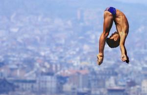 Sun Shuwei  CHINA (16 years old) GOLD 10m Platform Diving 1992 B